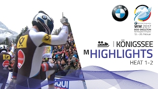 Highlights Heat 1-2 | Friedrich delivers a one-two punch | BMW IBSF World Championships 2017