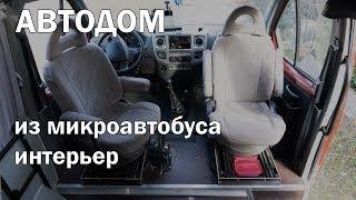 Автодом на базе ГАЗель 4х4, обзор интерьера: поворотные сиденья, кухня, солнечные панели, ...