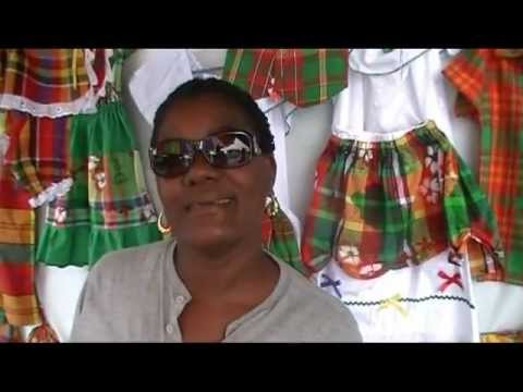 Seamstress Joan Connor on Dominica National Wear