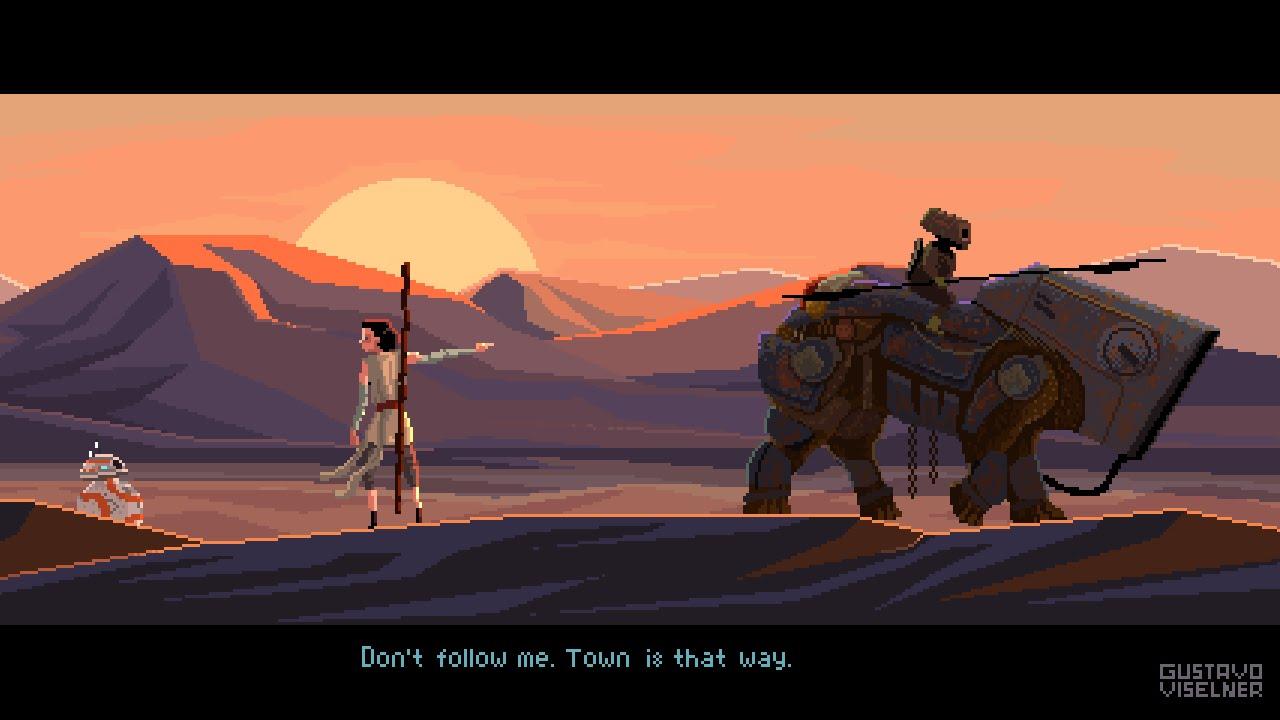 Star Wars Pixel Art Illustration Work Process