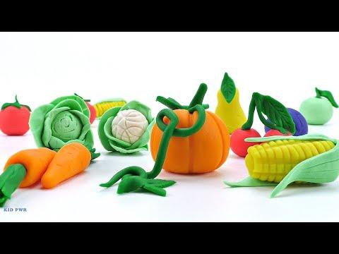 Лепим Овощи и Фрукты / Как сделать фрукты и овощи с пластилина Плей До