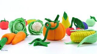 как сделать из пластилина фрукты и овощи видео для детей