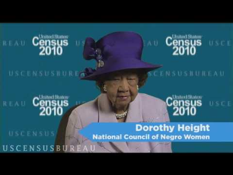 A 2010 Census Message from Dorothy Height