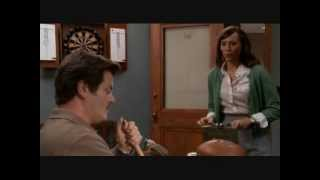 parks and rec ann tries to hold a conversation with april and ron