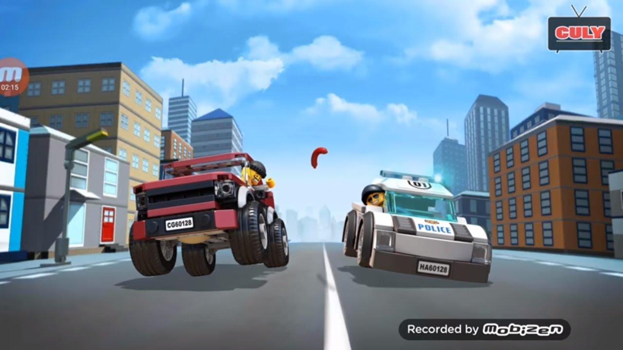 Choi Lego City cảnh sát tuần tra thành phố cu lỳ chơi game vui nhộn