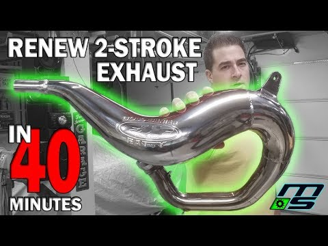 Renew 2 Stroke Pipes in 40 Minutes; EASY!!! Yamaha Banshee
