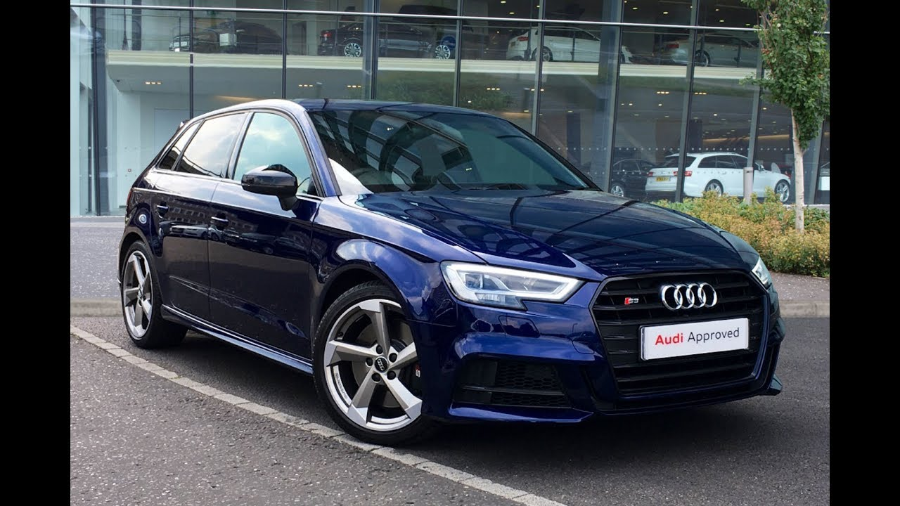 fm66bwj audi a3 s3 sportback tfsi quattro black edition blue 2016 west london audi youtube. Black Bedroom Furniture Sets. Home Design Ideas