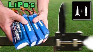 Rocket Knife -VS- LiPo Batteries (Surprising result?)