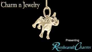 French Bulldog Gold Charm Style 3586
