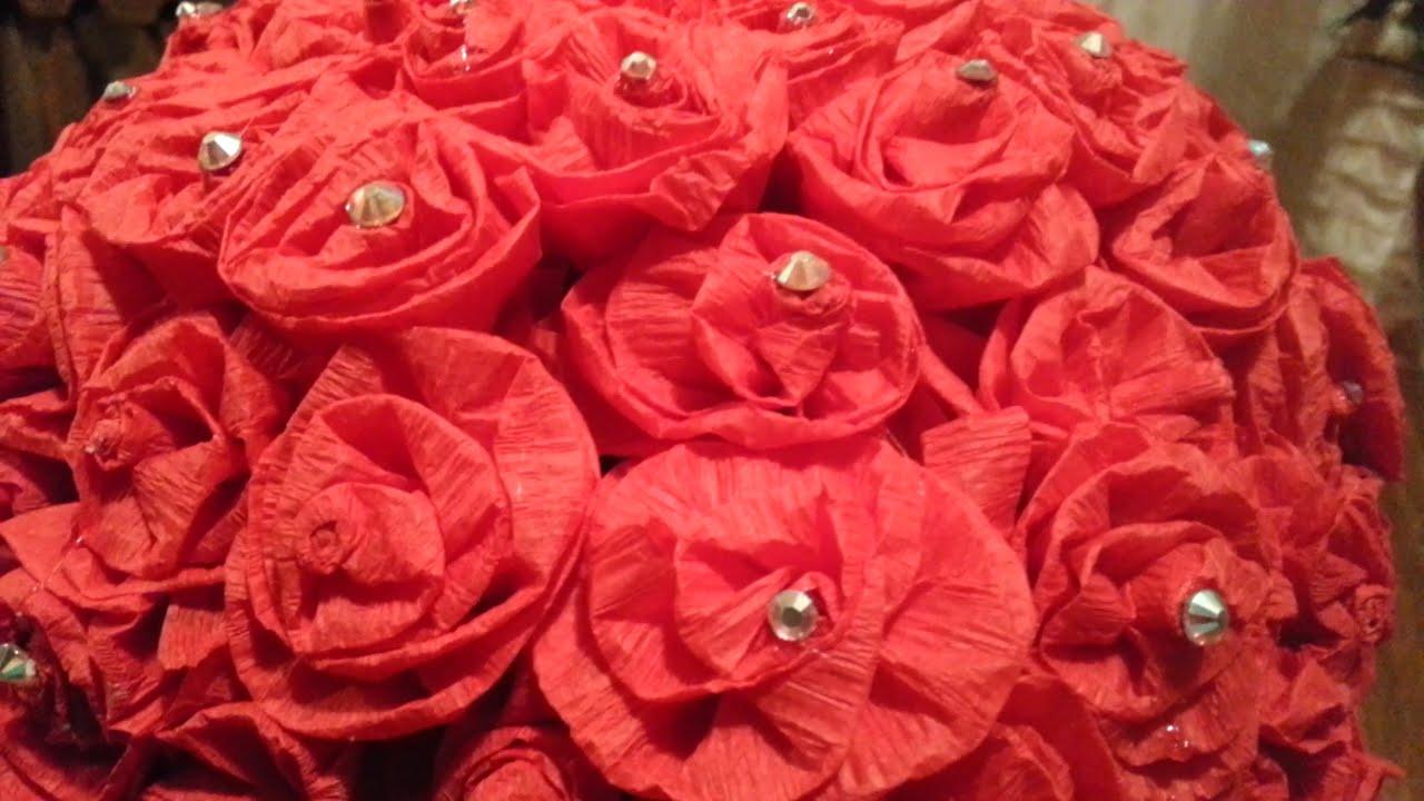 Como hacer rosas de papel crepe youtube - Www como hacer flores com ...