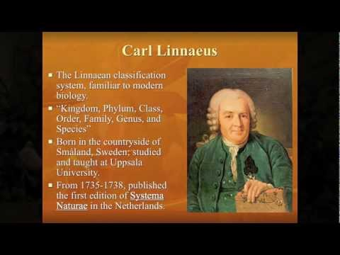 Lecture #3: Moses, Aristotle, and Linnaeus: Classifications of Plants and Animals
