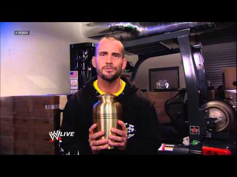 CM Punk taunts The Undertaker with Paul Bearer's urn: Raw, March 18, 2013