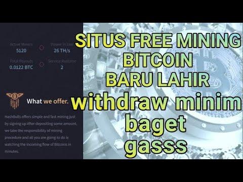 Situs Free Mining Bitcoin Baru Lahir Bisa di Tinggal Tidur Minimum Withdraw 0.00002 BTC