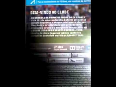 video ai fifa 13 ps3 mostrando a capa e um pouco