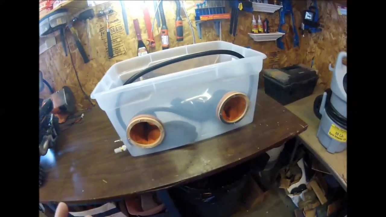 Homemade sandblasting cabinet - YouTube
