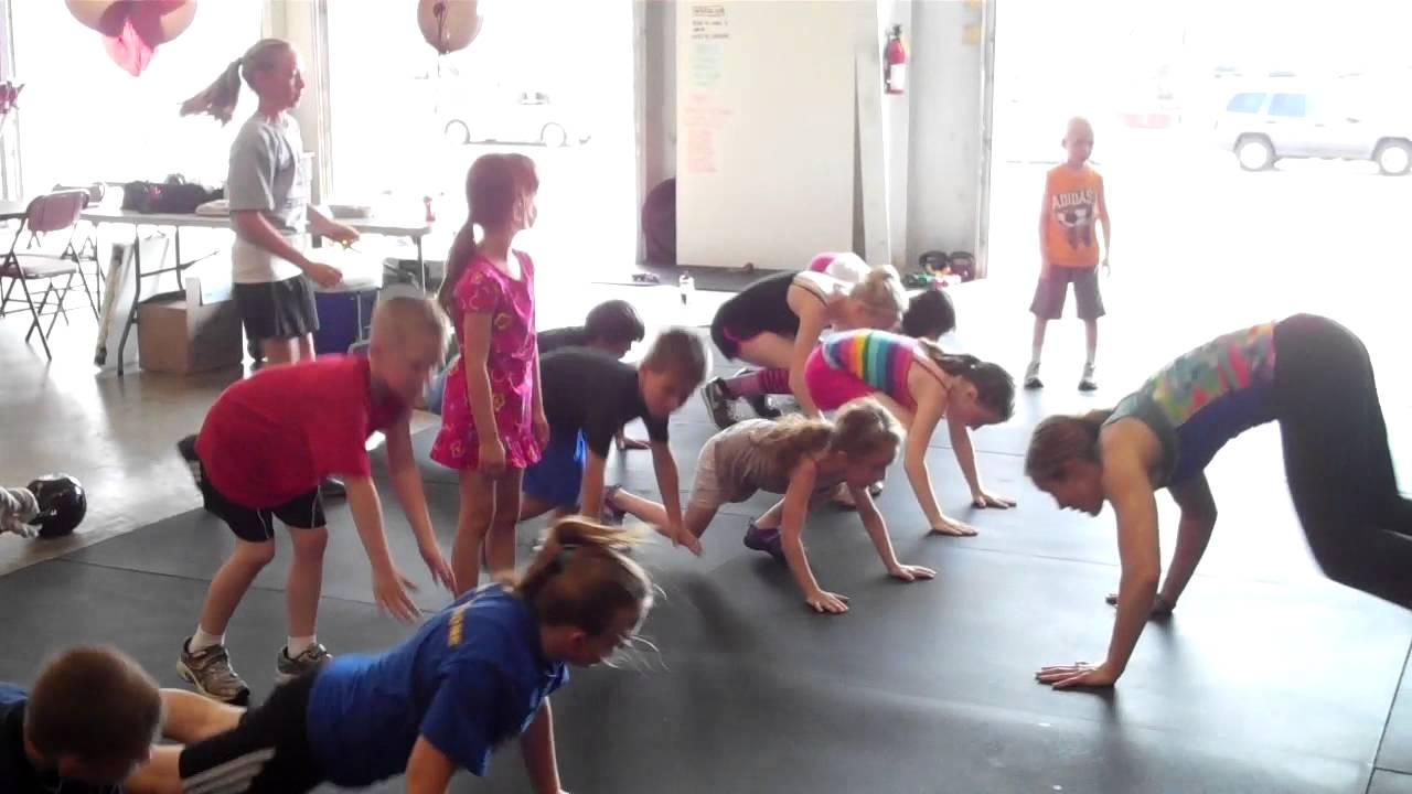 Crossfit Amrap Kids Doing Burpees Youtube