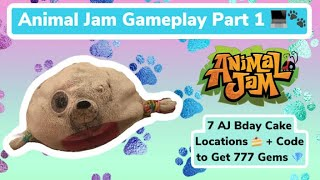 AJ Gameplay Part 1! 7 AJ Bday Cake Locations And Code To Get 777 Gems!