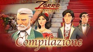 1 Ora COMPILAZIONE   Zorro La Leggenda Episodio 1 - 3  Cartoni di supereroi