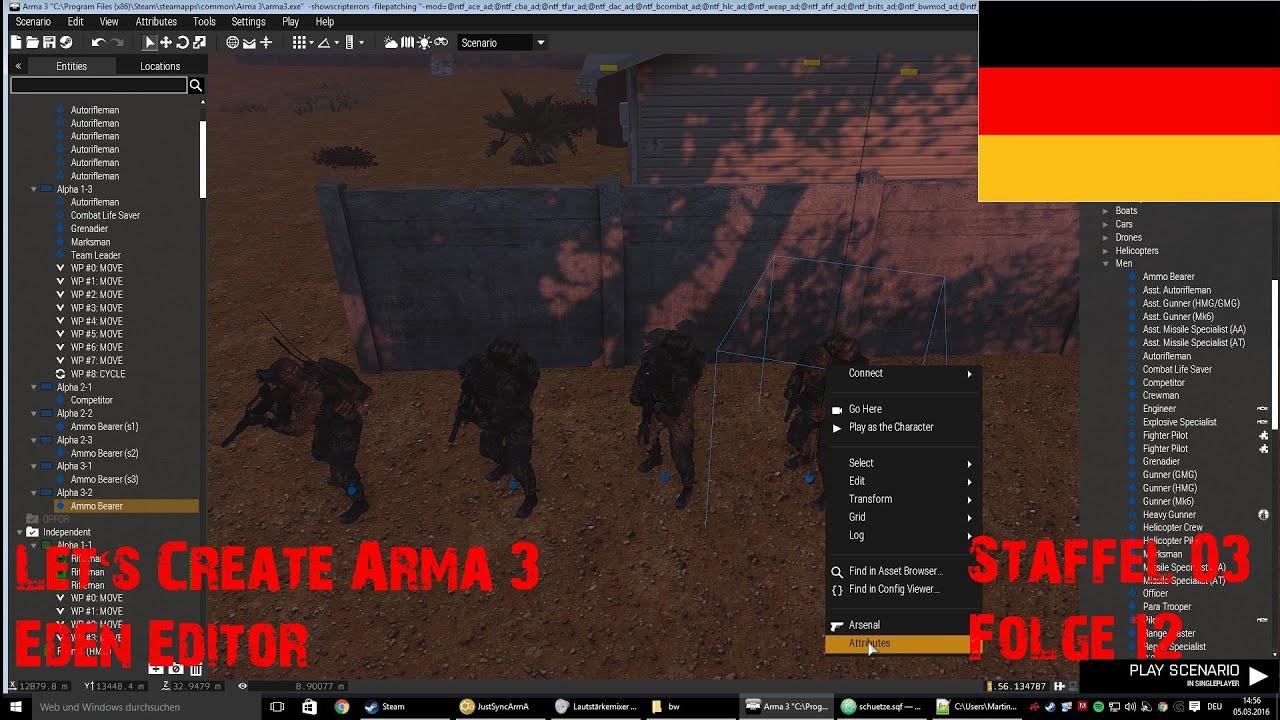 [RPGX]Let's create Arma 3 Eden Editor S03E12 - Rollenverteilung [GERMAN]