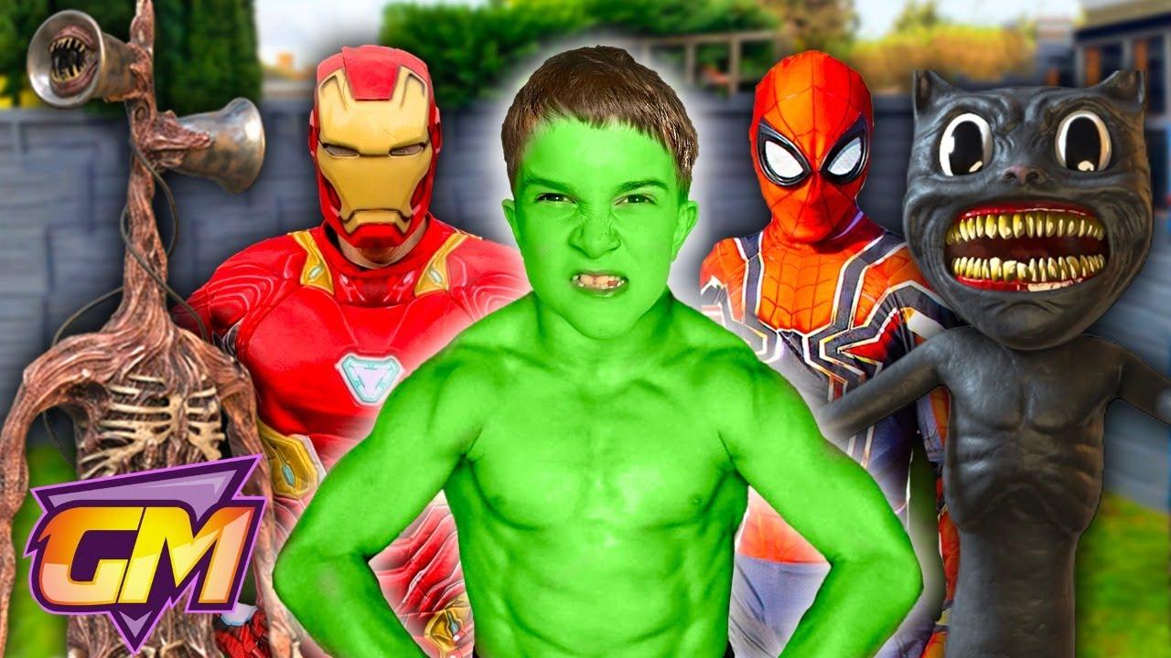Download Hulk VS Siren Head VS Spiderman VS Cartoon Cat VS Superheroes
