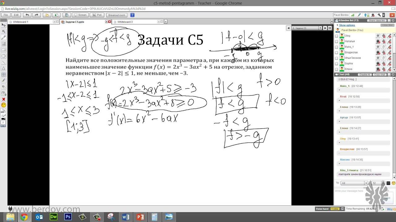 Вебинар: разбираем задание 18 (C5) из ЕГЭ по математике