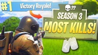 "My MOST KILLS in S3 of Fortnite! - PS4 Fortnite Season 3 ""Dark Voyager"" Skin!"