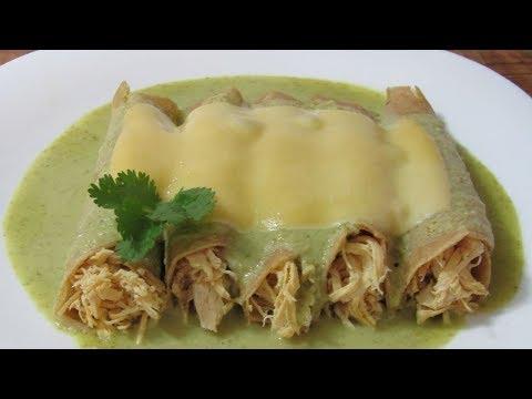 Mexican Recipe: Enchiladas Suizas Cremositas