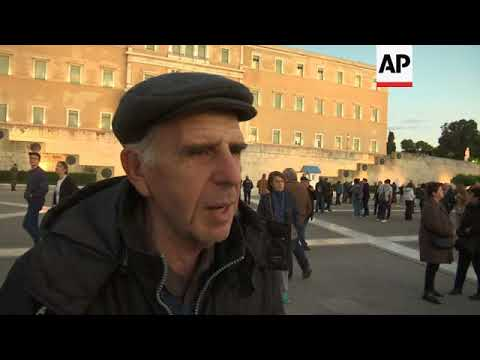 Greek pensioners protest planned austerity cuts
