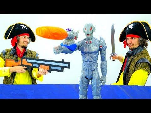#ЖелезныйЧеловек vs Альтрон! Битва Пирата Кейка и КЛОНА! Видео игры для мальчиков