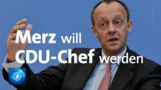Friedrich Merz äußert sich zum CDU-Vorsitz