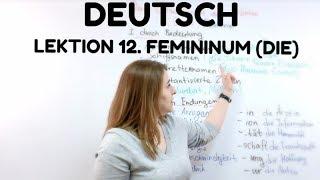 НЕМЕЦКИЙ - УРОК 12. Определение рода - ЖЕНСКИЙ РОД в немецком