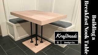 Building A Maple Breakfast Nook Table - That Maker Guy