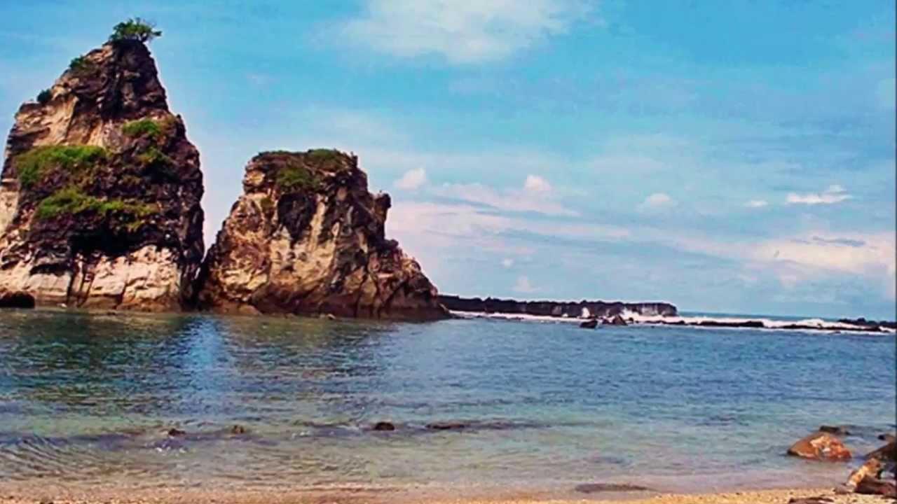 Pantai Sawarna Tempat Wisata Di Lebak Banten Youtube