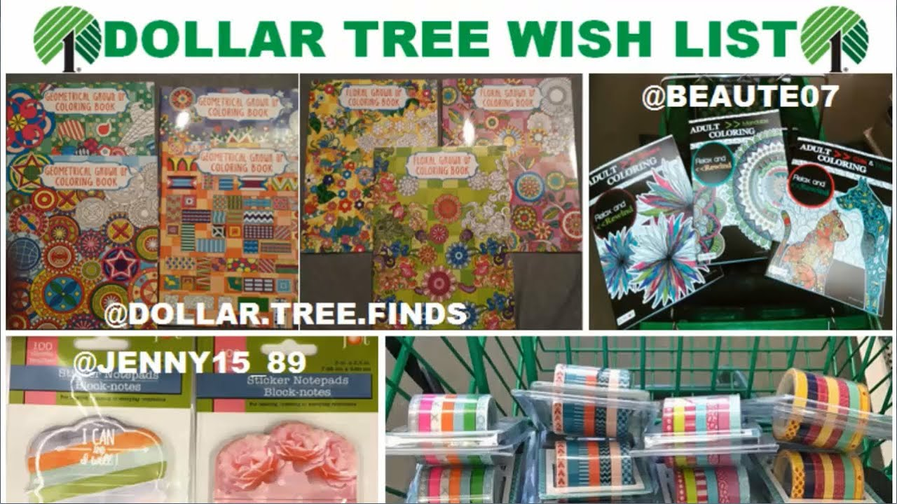 wishlist wednesday 29 dollar tree adult coloring books craft and more - Dollar Tree Coloring Books