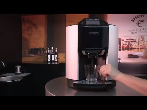 Krups Espresseria EA9010 Bean to Cup Coffee Machine, 17 Drinks, Self Cleaning, Touch Screen