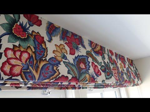 видео: римские шторы пошаговая инструкция