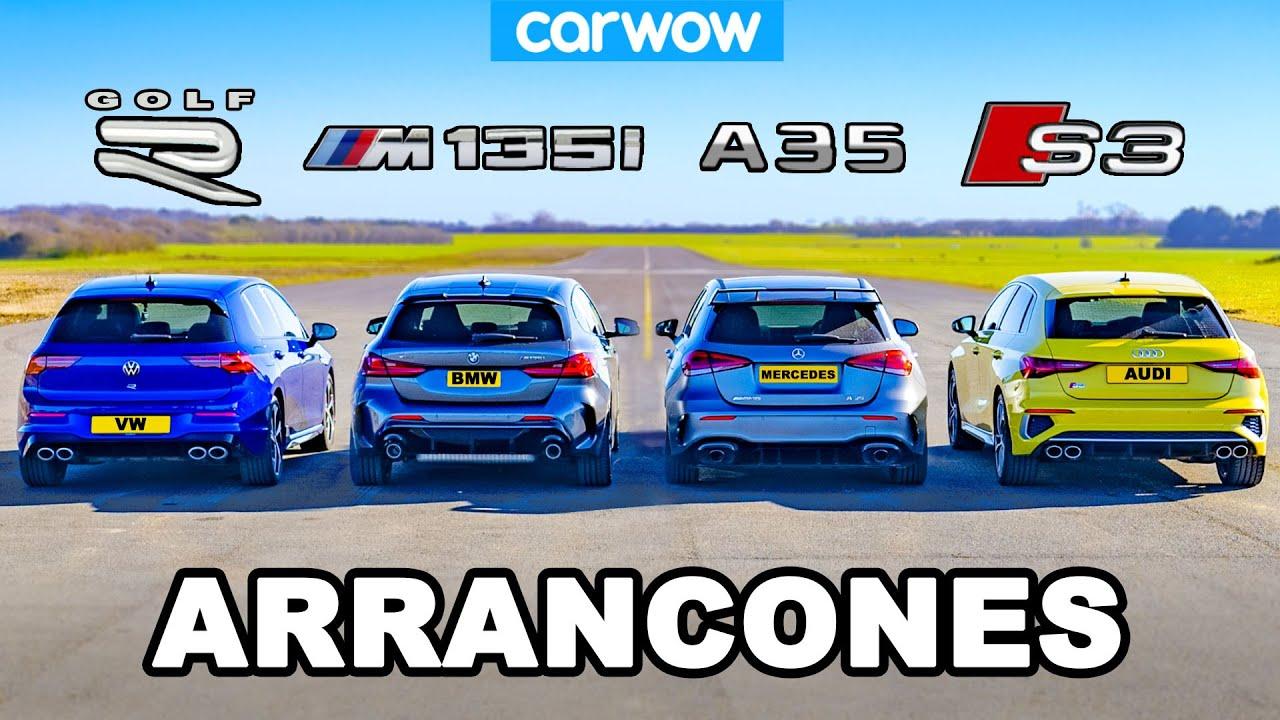 VW Golf R v BMW M135i v Audi S3 v AMG A35: ARRANCONES ...