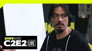 WATCH: Marc Silvestri Draw Wolverine | C2E2 2019 | SYFY WIRE