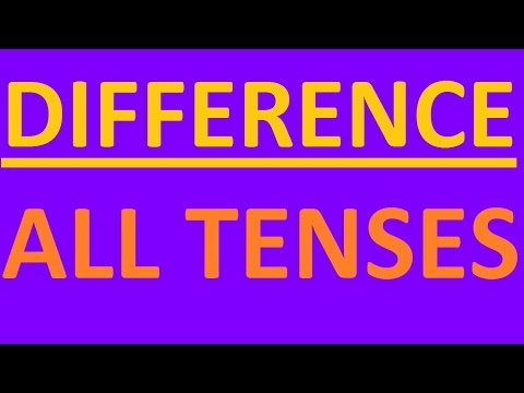 12 ENGLISH TENSES - DIFFERENCE. All Tenses in English grammar with examples - intermediate  grammar