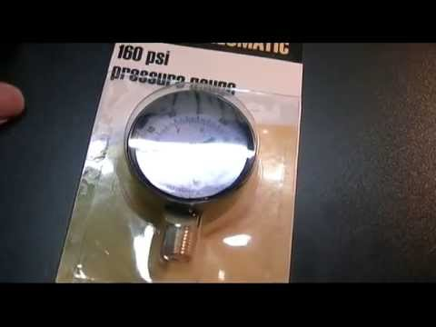 Harbor Freight - Central Pneumatic 160PSI Pressure Gauge Review