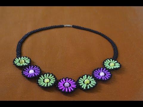 Колье из бисера Нинель.   Мастер класс / Necklaces of beads. Beading