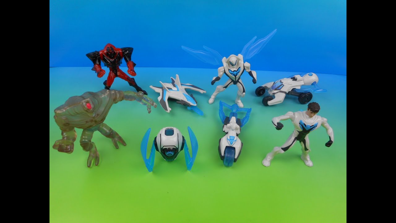 Download 2014 MAX STEEL SET OF 8 McDONALD'S HAPPY MEAL KID'S TOY'S VIDEO REVIEW