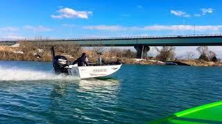 Stessl boat マーキュリー60馬力 セッティング中で74.5キロ✨ ハイト調...