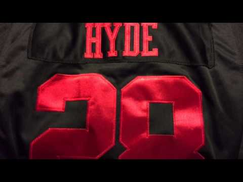 Jerseys NFL Cheap - Carlos Hyde #28 Nike Elite San Francisco 49ers Black Jersey (2015 ...