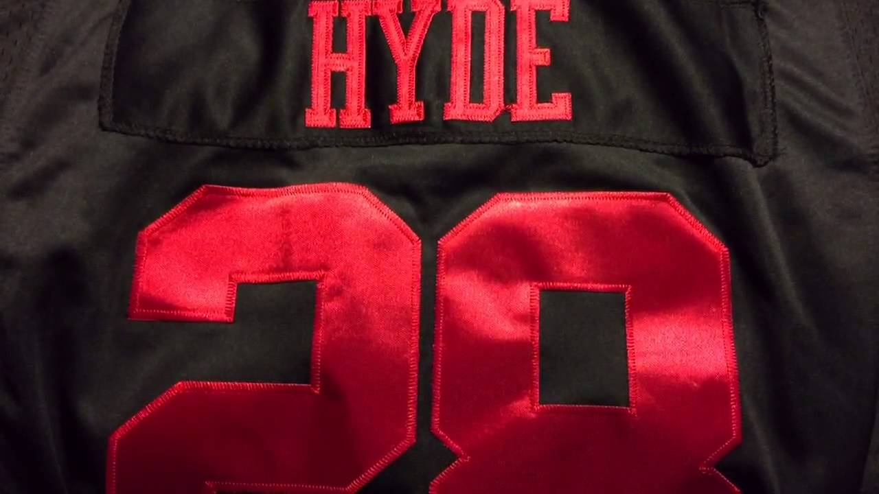 Carlos Hyde #28 Nike Elite San Francisco 49ers Black Jersey (2015