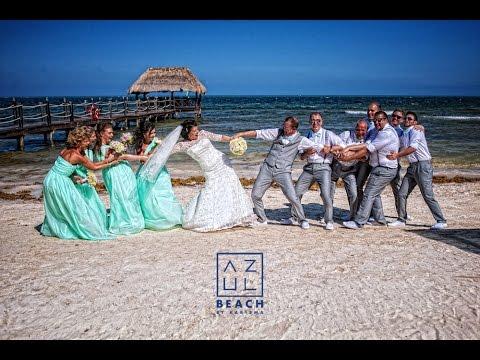 Azul Sensatori Cinematic Wedding Movie In Mexico Riviera Maya Original Fun Creative