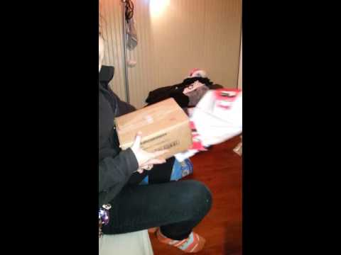Surprising girlfriend with puppy for Christmas