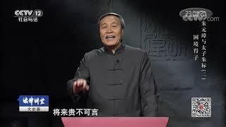 《法律讲堂(文史版)》 20190623 朱元璋与太子朱标(二)困境得子| CCTV社会与法