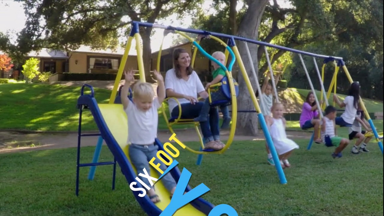 wayfair and swing sets mountain reviews view baby sportspower natus metal kids trampolineslide pdx set trampoline slide inc