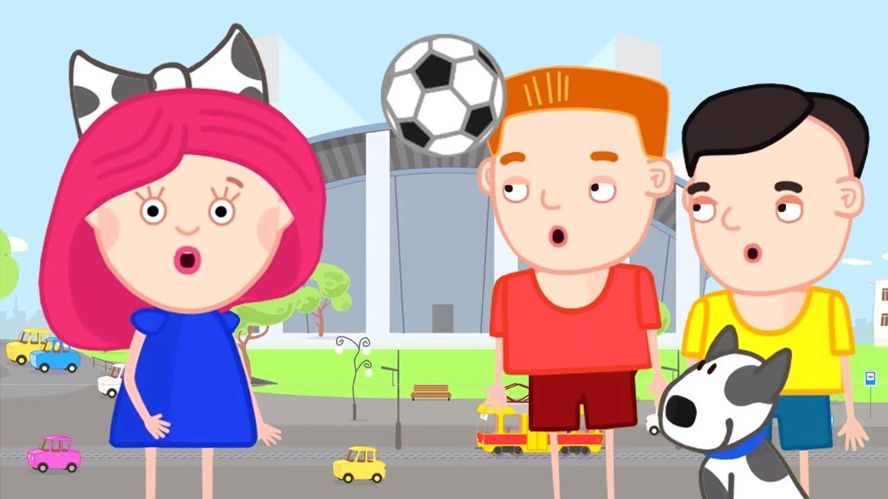 ¡Vamos al estadio! Smarta y su bolso mágico. Dibujos animados para niños en español